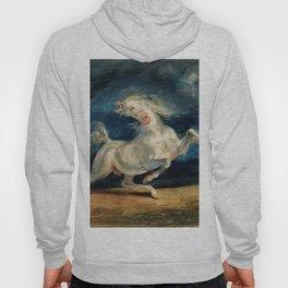 """Eugene Delacroix """"Horse Frightened by Lightning"""" Hoody"""