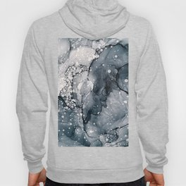 Icy Payne's Grey Abstract Bubble / Snow Painting Hoody