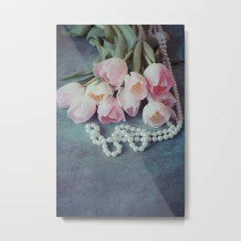 Tulips and Pearls Metal Print