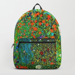 Gustav Klimt Garden with Sunflowers Backpack