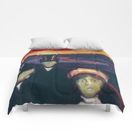Anxiety by Edvard Munch Comforters