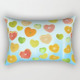 Juicy Hearts Rectangular Pillow