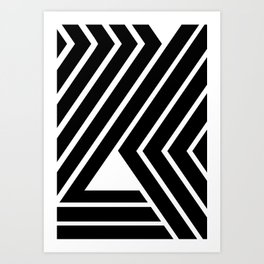 WILD STRIPES Art Print