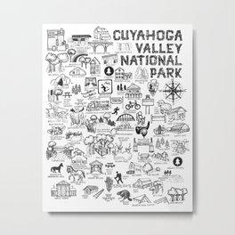 Cuyahoga Valley National Park Map Metal Print