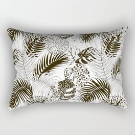 Monstera and palm Rectangular Pillow