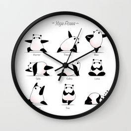 Yoga Panda II Wall Clock