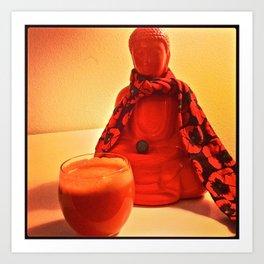 Carrots and Buddha Art Print