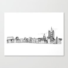 sketchy town Canvas Print