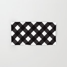 Contemporary Black & White Tilt Gingham Pattern - Mix & Match With Simplicty Of Life Hand & Bath Towel