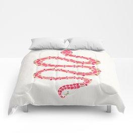 Pink & Gold Serpent Comforters
