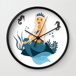 Mother of Seahorses Wall Clock