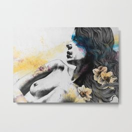 The Hunger   nude woman erotic portrait Metal Print
