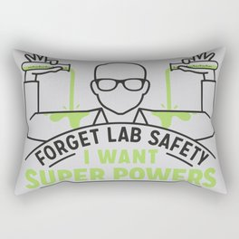 FORGET LAB SAFETY Rectangular Pillow