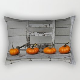 Mini Pumpkins Rustic Photography Rectangular Pillow