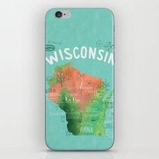Wisconsin Map iPhone & iPod Skin