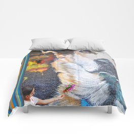 Few flowers as a tribute to the Loukanikos dog from Elisavet Comforters