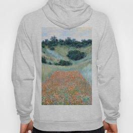 Poppy Field in a Hollow near Giverny by Claude Monet 1885 Hoody
