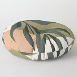 Tropical Leaf- Abstract Art Floor Pillow