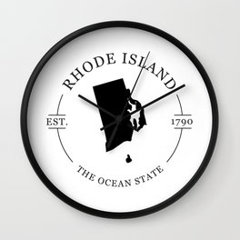Rhode Island - The Ocean State Wall Clock