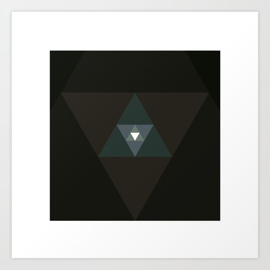 #359 Graced with light part I (triangle) – Geometry Daily Art Print