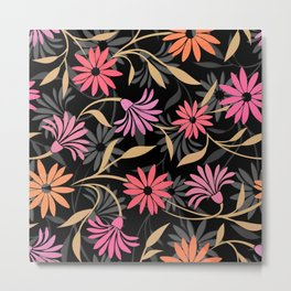 Stylized Flower Pattern 4 Metal Print