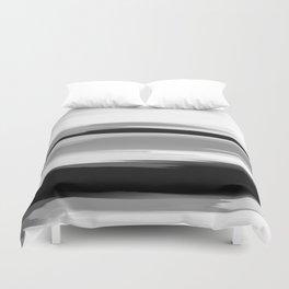 Soft Determination Black & White Duvet Cover