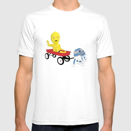 SW Kids - C3PO & R2D2 Red Wagon T-shirt