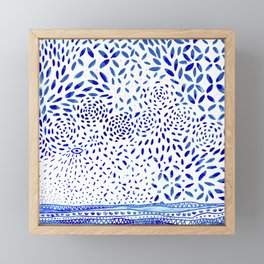 handmade tile Framed Mini Art Print