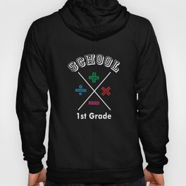 1st First Grade Accountant Back to School Shirt Hoody