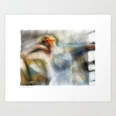 The Last Dance, dancer Art Print