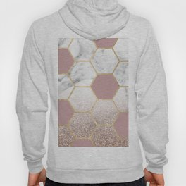Cherished aspirations rose gold marble Hoody