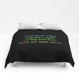 "Funny ""Working From Home"" Joke Comforters"