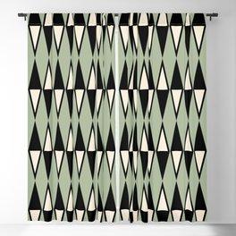 Mid Century Modern Diamond Pattern Sage Green 234 Blackout Curtain