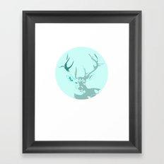 Graceful Deer Totem Portrait Framed Art Print