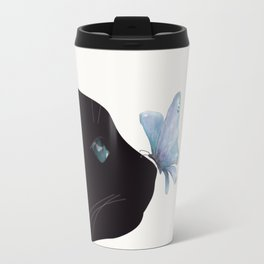 Cat and Butterfly Travel Mug