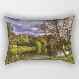 The River Kennet At Burghfield Rectangular Pillow