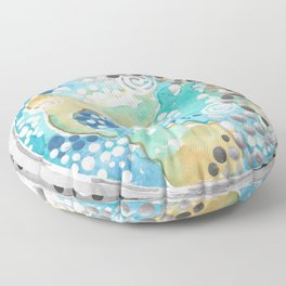 EARTH ART PAINTING modern nature paintings globe the earth from space decor the world wall artwork beautiful oceans pointillism stickykitties Floor Pillow