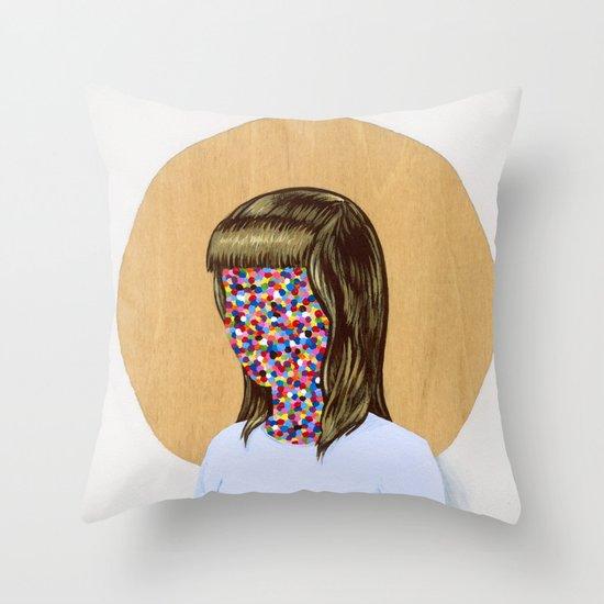 6x6 Woman Throw Pillow