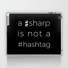 A sharp is not a hashtag (black) Laptop & iPad Skin