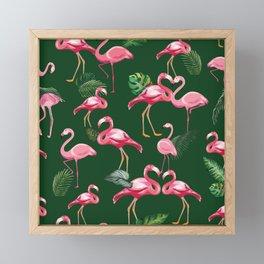 Flamingos Love Pattern 5 Framed Mini Art Print