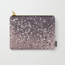 Sparkling Mauve Lady Glitter #3 #shiny #decor #art #society6 Carry-All Pouch