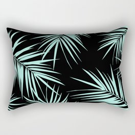 Palm Leaves Cali Finesse #4 #MintBlack #tropical #decor #art #society6 Rectangular Pillow