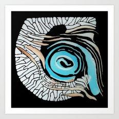 Horn-swirl inv Art Print