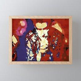 His Gaze Framed Mini Art Print