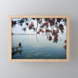 West Lake Fisherman II Framed Mini Art Print
