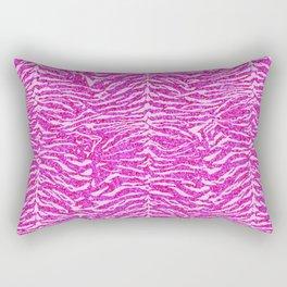 Pink Glitter Tiger Print Rectangular Pillow