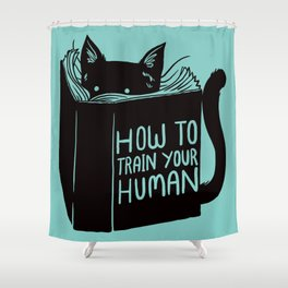 Cat Reader Advice Shower Curtain