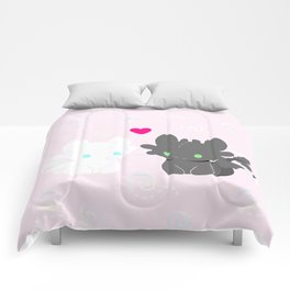 Light Fury & Night Fury LOVE Comforters