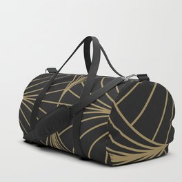 Diamond Series Inter Wave Gold on Charcoal Duffle Bag