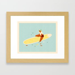 Aloha girl Framed Art Print